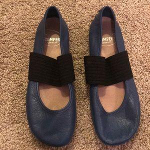 Blue Camper Ballet Flats